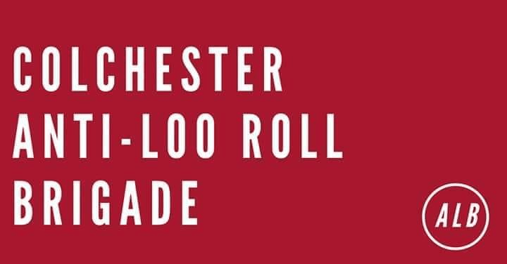 Colchester anit-loo roll brigade logo